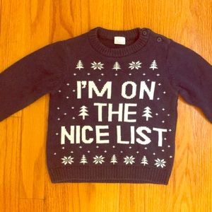 F&F Navy Knit Christmas Sweater